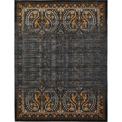 Yareli Black/Ivory Area Rug Rug Size: 10 x 13