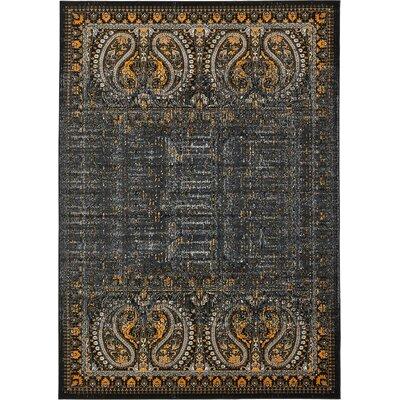 Yareli Black/Ivory Area Rug Rug Size: 7 x 10