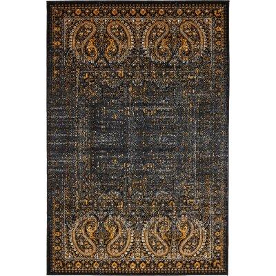 Yareli Black/Ivory Area Rug Rug Size: 4 x 6