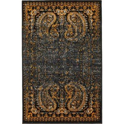 Yareli Black/Ivory Area Rug Rug Size: 2 x 3