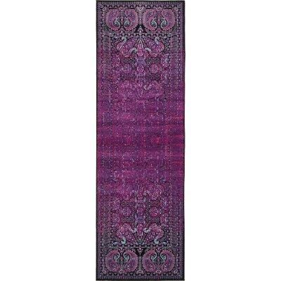 Yareli Lilac/Black Area Rug Rug Size: Runner 3 x 910