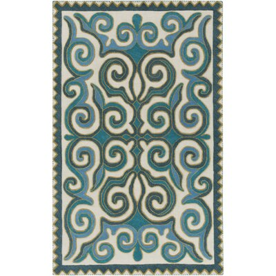 Retana Teal/Beige Area Rug Rug Size: Rectangle 2 x 3
