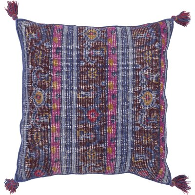 Hagerman 100% Wool Throw Pillow Cover Color: BluePurple