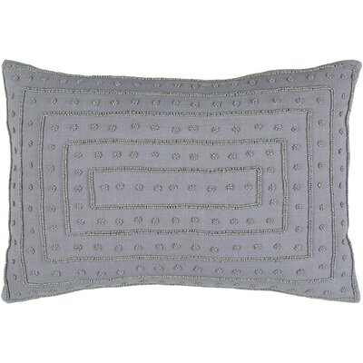 Yasser 100% Cotton Lumbar Pillow Cover Color: Medium Gray