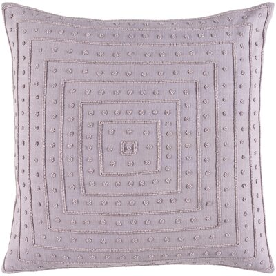 Yasser Throw Pillow Cover Color: Lavender, Size: 22 H x 22 W x 1 D