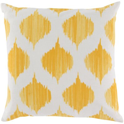 Kingman 100% Cotton Throw Pillow Cover Size: 18 H x 18 W x 1 D, Color: YellowNeutral