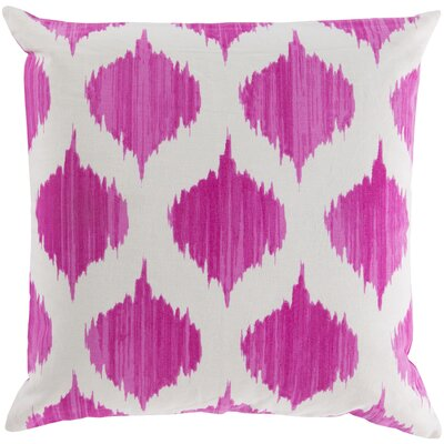 Kingman 100% Cotton Throw Pillow Cover Size: 18 H x 18 W x 1 D, Color: PinkNeutral