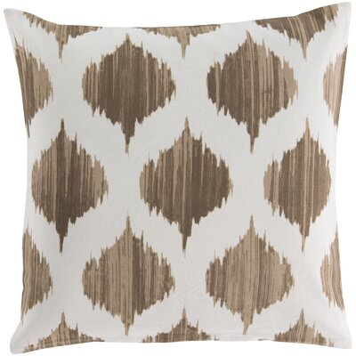 Kingman 100% Cotton Throw Pillow Cover Size: 22 H x 22 W x 1 D, Color: BrownNeutral