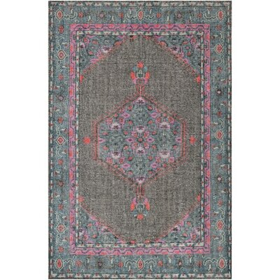 Hagerman Hand-Knotted Gray Area Rug Rug Size: 36 x 56
