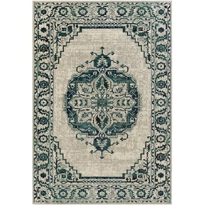 Puran Gray/Blue Area Rug Rug Size: Rectangle 53 x 73