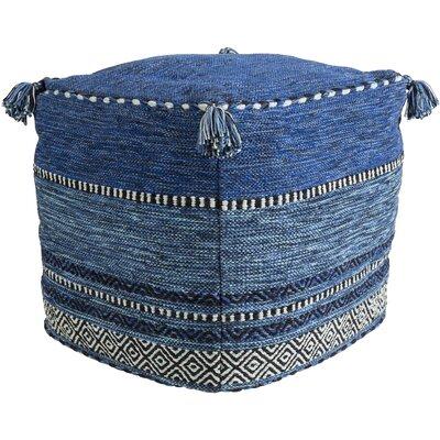 Rejendra Pouf Ottoman Upholstery: Dark Blue