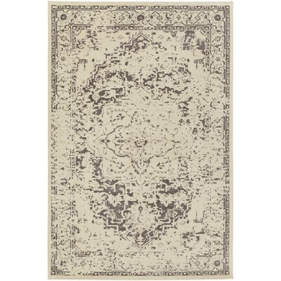 Puran Brown/Cream Area Rug Rug Size: Rectangle 110 x 211
