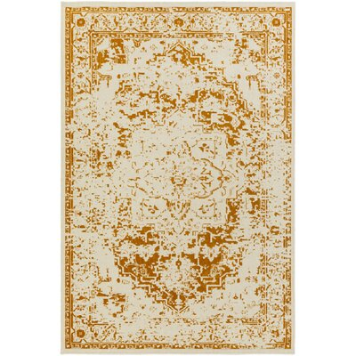 Puran Orange/Cream Area Rug Rug Size: 1'10