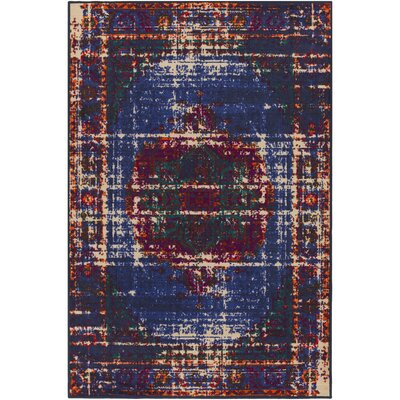 Prasad Blue/Brown Area Rug Rug Size: 8 x 10