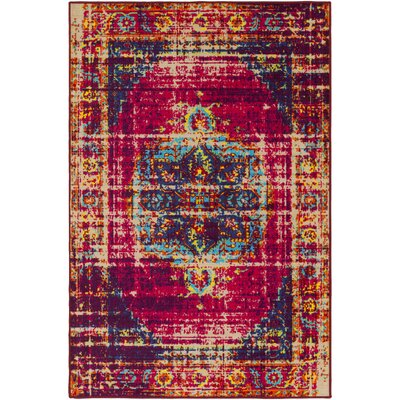 Prasad Pink/Purple Area Rug Rug Size: Rectangle 8 x 10