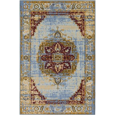 Prasad Beige/Blue Area Rug Rug Size: Rectangle 8 x 10