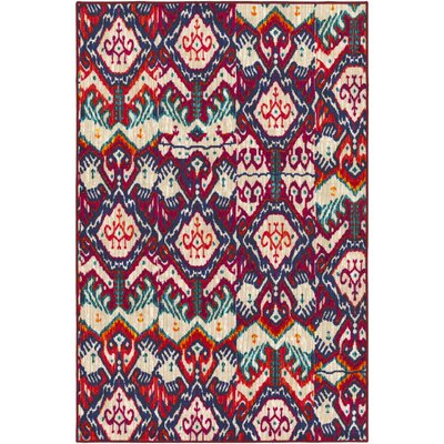Prasad Red/Beige Area Rug Rug Size: Rectangle 8 x 10
