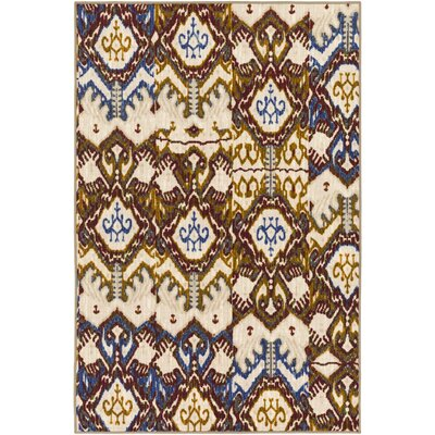 Prasad Blue/Beige Area Rug Rug Size: Rectangle 110 x 3