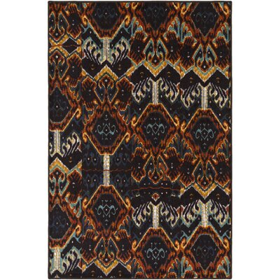 Prasad Blue/Brown Area Rug Rug Size: 1'10