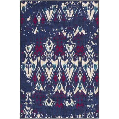 Prasad Beige/Blue Area Rug Rug Size: Rectangle 110 x 3