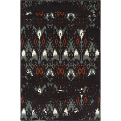 Prasad Aqua/Brown Area Rug Rug Size: Rectangle 8 x 10