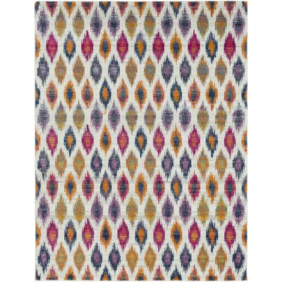Youcef Blue/Pink Area Rug Rug Size: Rectangle 710 x 103
