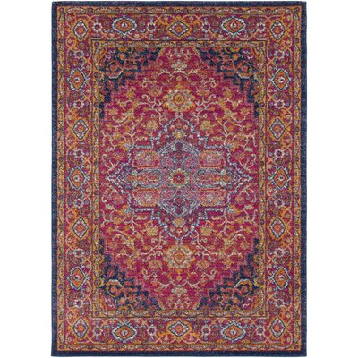 Koval Pink/Orange Area Rug Rug Size: Oval 67 x 9