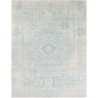 Koval Loomed Blue/Beige Area Rug Rug Size: Rectangle 93 x 126