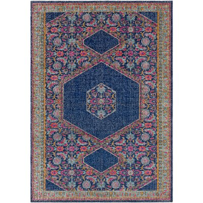 Fredonia Blue/Pink Area Rug Rug Size: Rectangle 2 x 3