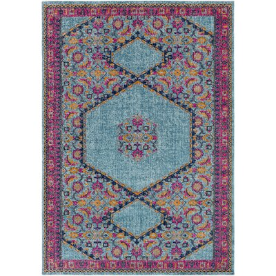 Fredonia Tibetan Blue/Pink Area Rug Rug Size: 2 x 3