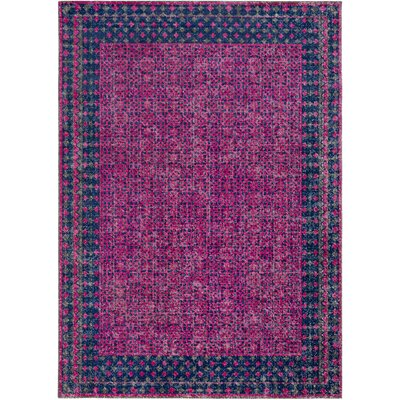 Fredonia Oriental Pink/Blue Area Rug Rug Size: Rectangle 710 x 103