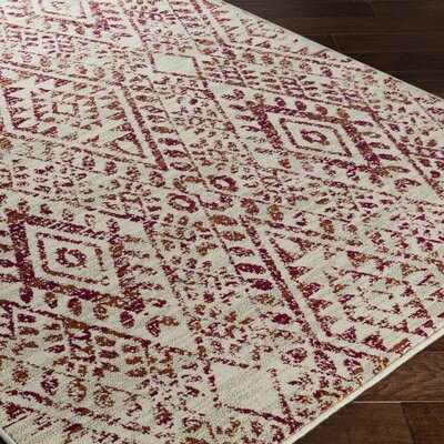 Bungalow Rose Puran Pink/Cream Area Rug