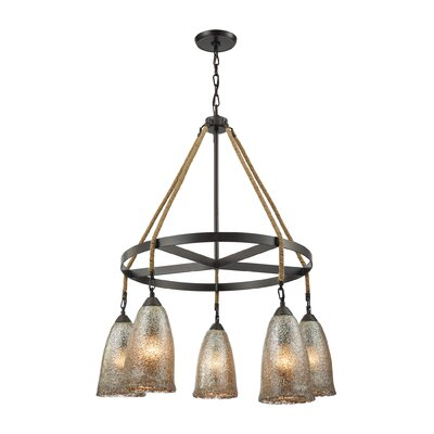 Marjane 5-Light Shaded Chandelier Bulb Type: 60W Incandescent
