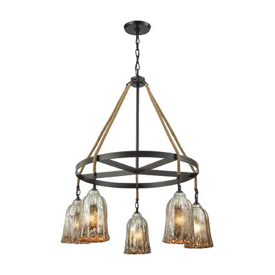 Marjane 5-Light Shaded Chandelier