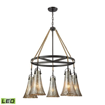 Marjane 5-Light Shaded Chandelier Bulb Type: 9.5W LED