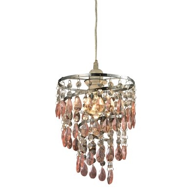 Guennoun 1-Light Crystal Pendant