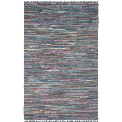 Failla Hand-Woven Aqua Area Rug Rug Size: Rectangle 4 x 6