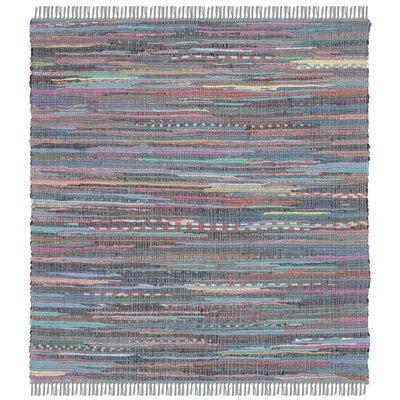 Failla Hand-Woven Aqua Area Rug Rug Size: Square 4