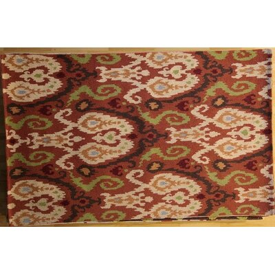Ananya Hand-Hooked Rust Area Rug Rug Size: Rectangle 53 x 83