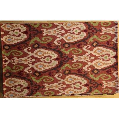 Ananya Hand-Hooked Rust Area Rug Rug Size: 53 x 83