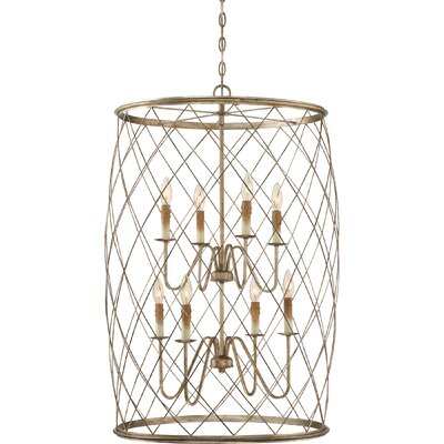 Boulemane 8-Light Foyer Pendant Finish: Century Silver Leaf