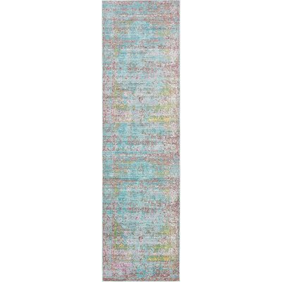 Hajeb Blue Area Rug Rug Size: Runner 27 x 910