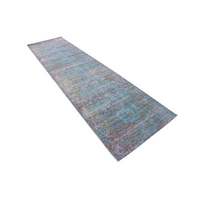 Hajeb Blue Area Rug Rug Size: 6 x 9