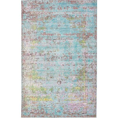 Hajeb Blue Area Rug