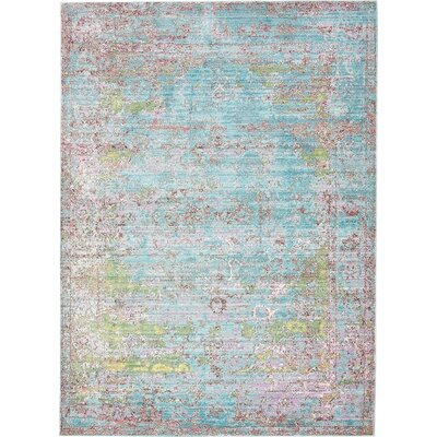 Hajeb Blue Area Rug Rug Size: 7' x 9'10
