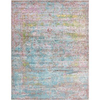 Hajeb Blue Area Rug Rug Size: 9 x 12