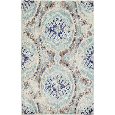 Alstrom Blue Area Rug Rug Size: 5 x 8