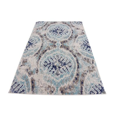 Alstrom Blue Area Rug Rug Size: 4 x 6