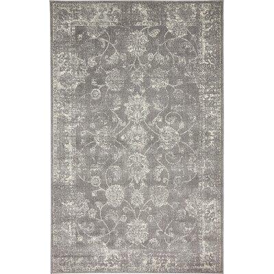 Akerlund Dark Gray Area Rug Rug Size: 5 x 8