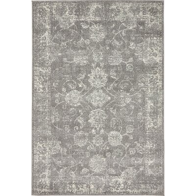 Akerlund Dark Gray Area Rug Rug Size: Rectangle 4 x 6